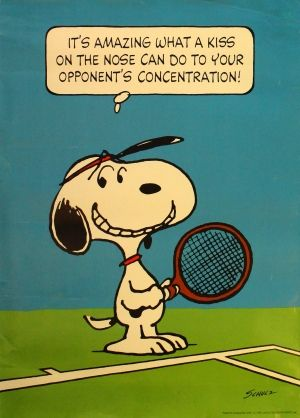 Snoopy Tennis, 1970s - original vintage poster by Charles M Schulz listed on AntikBar.co.uk