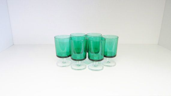 Vintage Wine Cordial Liquor Glasses by Luminarc Made by crabtulip