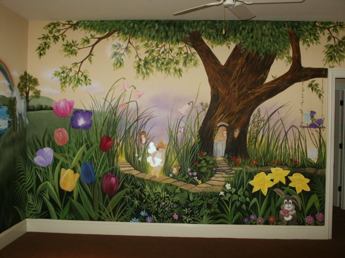 Google image result for for Enchanted forest mural wallpaper
