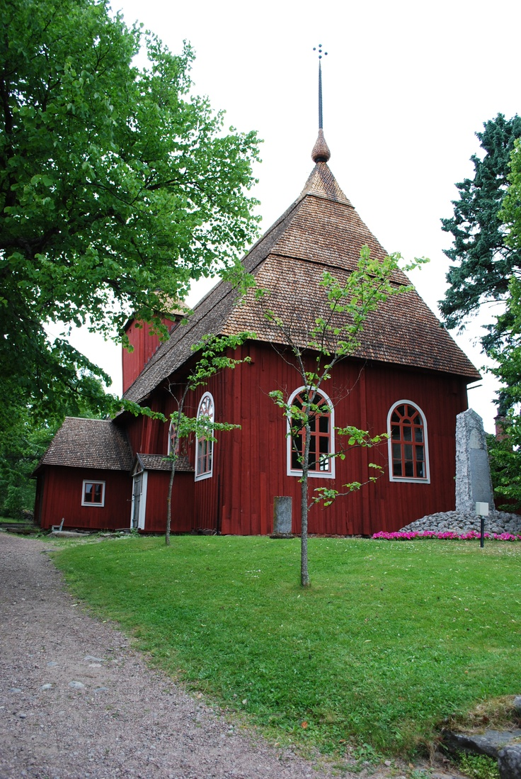 Ulrika Eleonora church in Kristiinankaupunki, Finland is a wooden church built in 1700.