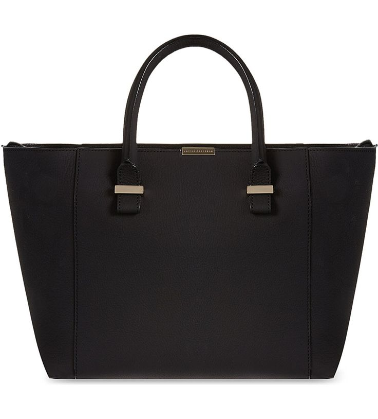 VICTORIA BECKHAM Quincy leather tote (Black