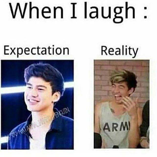 Hahaha, so true! But Calum's cute no matter what he looks like when he laughs.