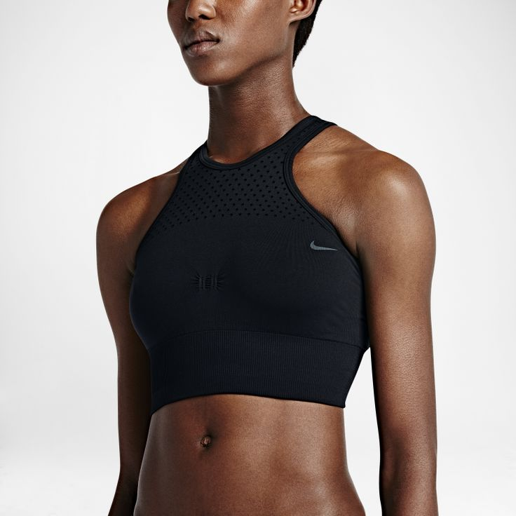 Nike Dri-FIT Knit -   SEAMLESS COMFORT FOR YOUR WORKOUT The Nike Dri-FIT Knit Women's Training Braletteis made with super-stretchy, sweat-wicking fabric for locked-in comfort and freedom to move during your workout. The seamless construction feels ultra-smooth against your skin, and knit-in mesh enhances airflow. Benefits  Dri-FIT fabric helps keep you dry and comfortable Flat seams move smoothly against your skin Knit-in mesh at neckline, straps and inner back for ventilation ...