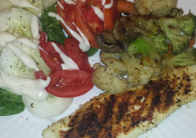Grilled Tilapia dinner Recipe -  Let's cook Grilled Tilapia dinner by yourself!