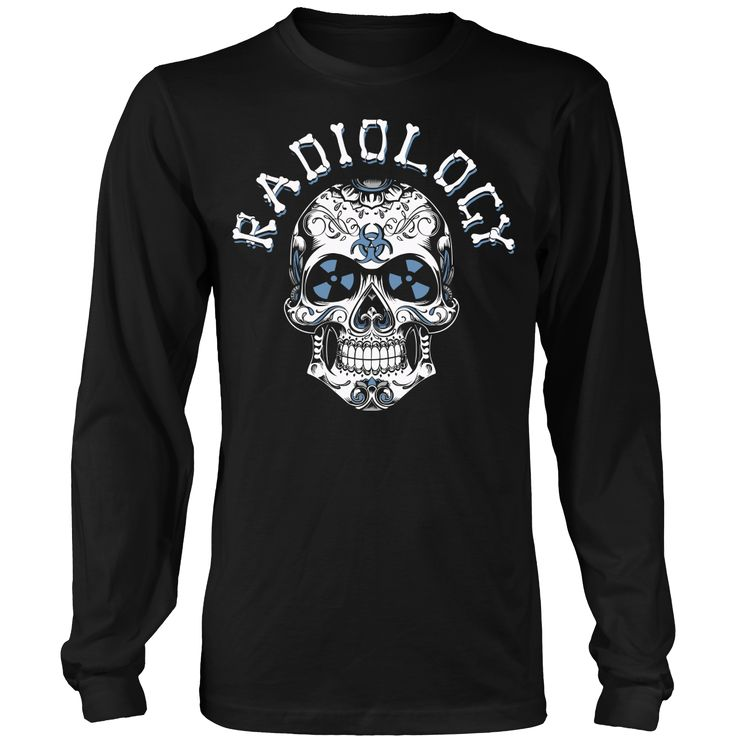 Radiology skull 2 long sleeve shirt rad tech shirt