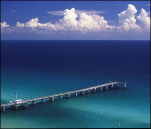 Panama City Beach county pier. Yes, the water is that beautiful.