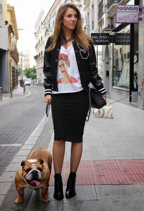 Falda de tubo con beisbolera, street style, moda, fashion blogger