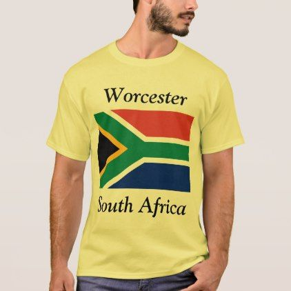 Worcester South Africa with South African Flag T-Shirt - western style diy unique customize stylish