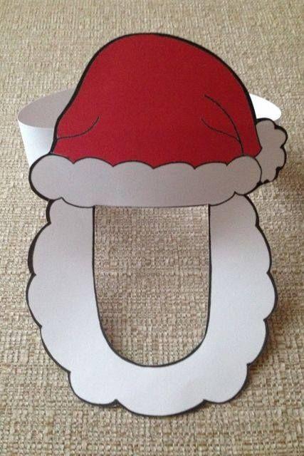 Lembrancinha: Máscara de Papai Noel