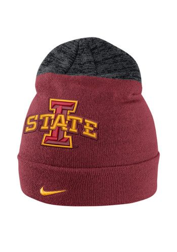 Nike Iowa State Cyclones Red Vapor Sideline Coaches Mens Knit Hat - 12519599
