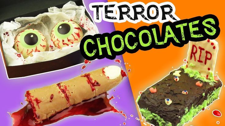 3 DIY BLOODY CHOCOLATES FOR HALLOWEEN - 3 DIY TERROR OF CHOCOLATE | aPasos Crafts DIY - YouTube