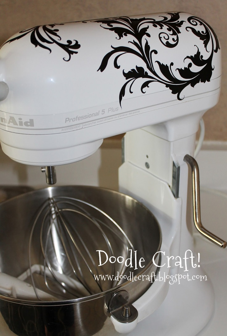 61 best art craft images on pinterest at home beer and creative food - Decorated kitchenaid mixer ...