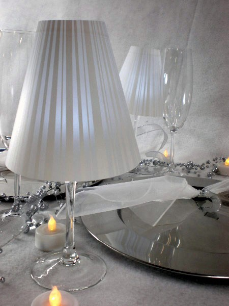 17 best images about wine glass lamp shade on pinterest for Wine glass lamp centerpiece