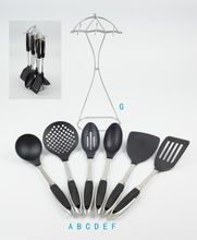The new kitchen cookware seven sets of kitchen spatula spoon stainless steel + nylon suit / cj1001