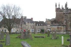 Fairford is a small town in Gloucestershire, England. The town lies in the Cotswolds on the River Coln, about 6 miles (9.7 km) east of Cirencester, 4 miles (6.4 km) west of Lechlade and 9 miles (14 km) north of Swindon. Nearby are RAF Fairford and the Cotswold Water Park.