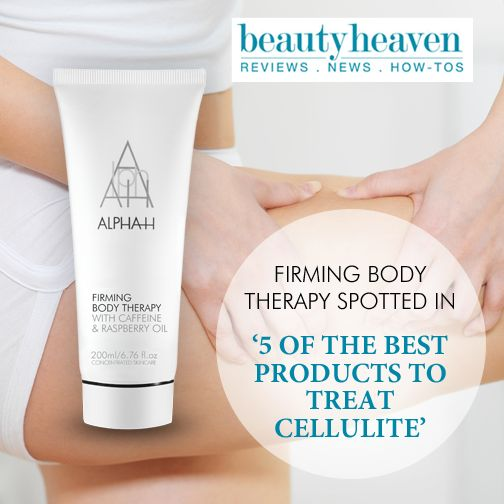 Alpha-H Firming Body Therapy was featured as one of the best products to treat cellulite on Beauty Heaven recently. http://ow.ly/C5CeS  Shop this dual-purpose antioxidant body treatment & SAVE 20% off Alpha-H during October - http://facialco.com.au/alpha-h-brand/alpha-h-firming-body-therapy.html