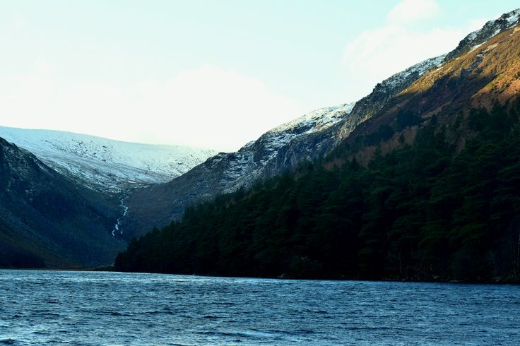 Upper Lake, Glendalough, Wicklow, Ireland with a dusting of snow