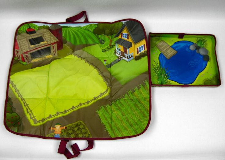 idea for folding up the play mat john deere farm play mat