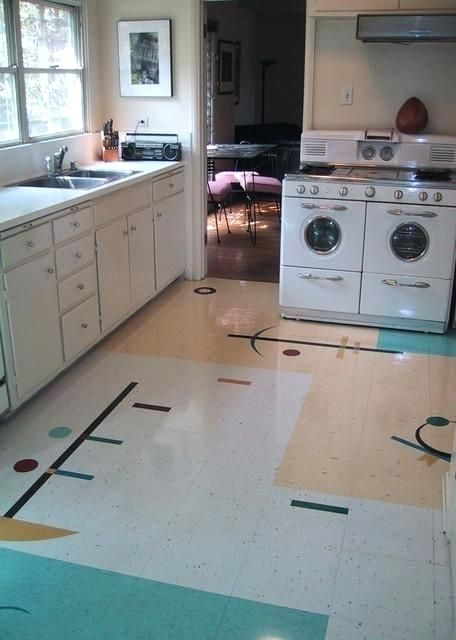 Mid Century Floor Tile Fresh My Friends Kitchen Modern