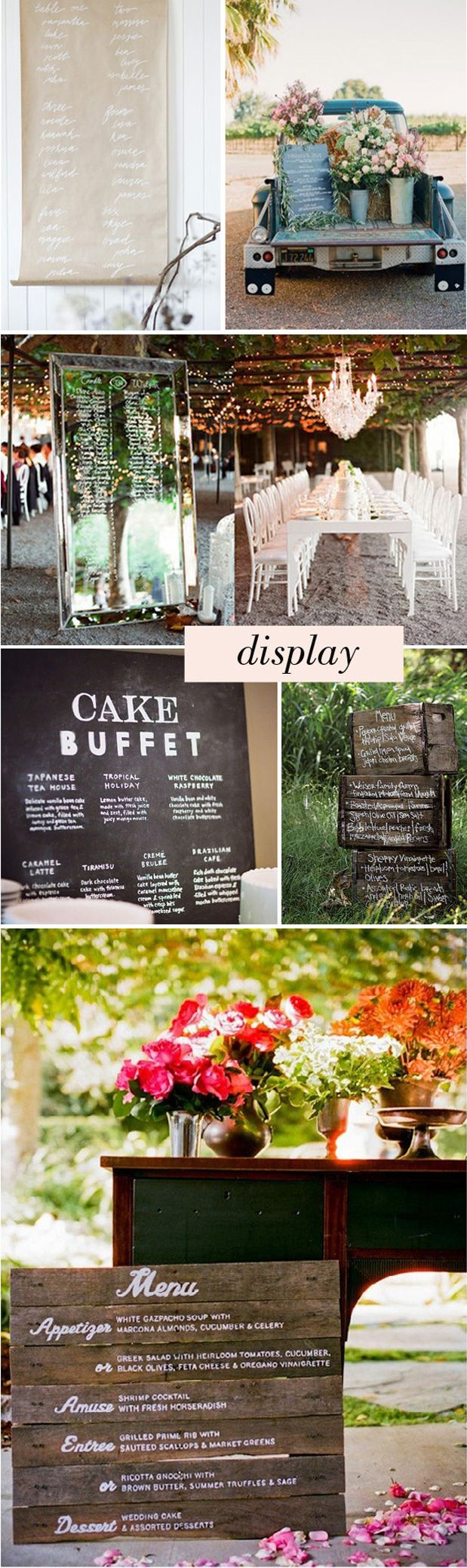 a compilation of menu ideas from grey likes weddings