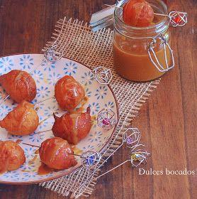 Dulces bocados: Buñuelos de boniato y dulce de leche