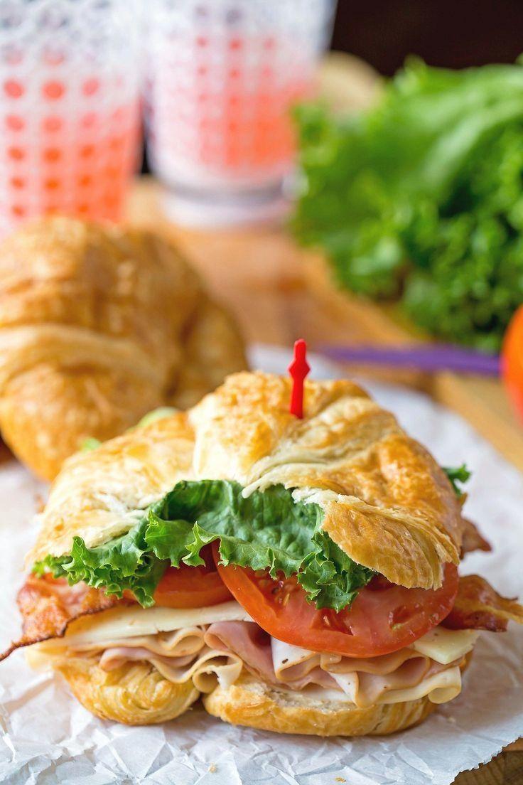 California Club Croissant Sandwich Recipe - easy lunch recipe idea.