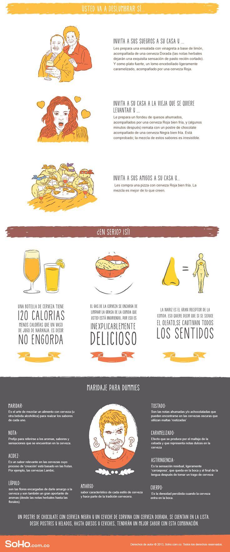 Soho - Club Colombia   Ilustraciones e infografía sobre el maridaje con cerveza. Soho.com.co - Club Colombia.  2013.