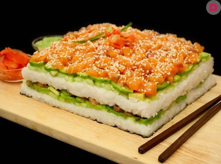 Суши-торт: это так просто!, рецепт приготовления