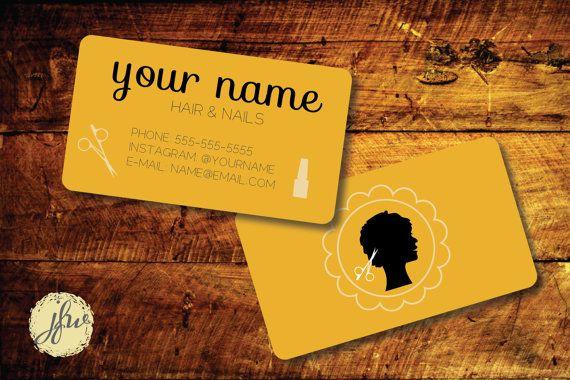 Hairdresser Hairstylist or Cosmetologist Logo Business Card Design
