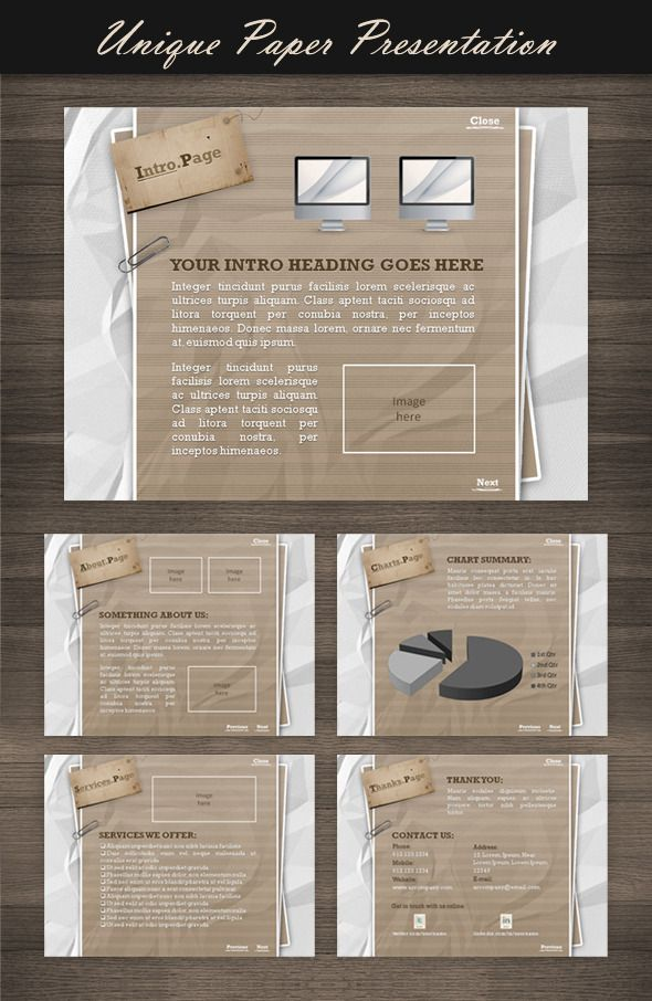 Unique Paper Presentation  #sleek #nice #crumpled • Click here to download ! http://graphicriver.net/item/unique-paper-presentation/124128?s_rank=939&ref=pxcr