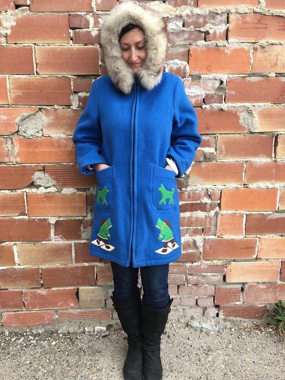 Layaway for Tammy vintage authentic eskimo parka bright blue