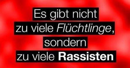 #flüchtlinge vs. rassisten #no PEGIDA
