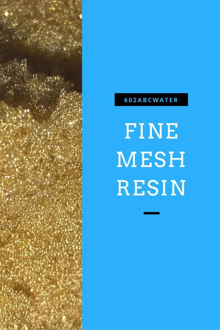 What is fine mesh resin? What does it do?