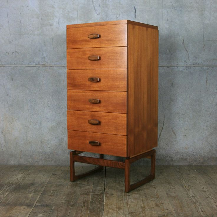 G-Plan Quadrille Teak Tallboy Chest of Drawers