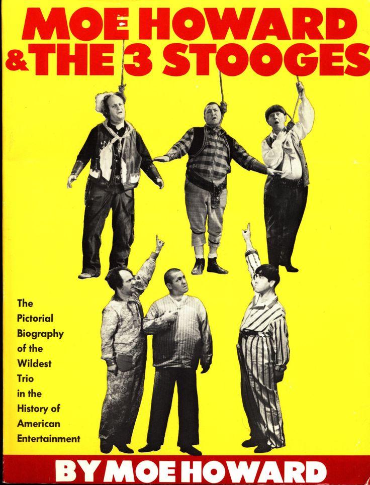 Moe Howard & 3 THREE STOOGES Curly Larry Fine Nyuk Nyuk Slapstick Movie TV Superstars