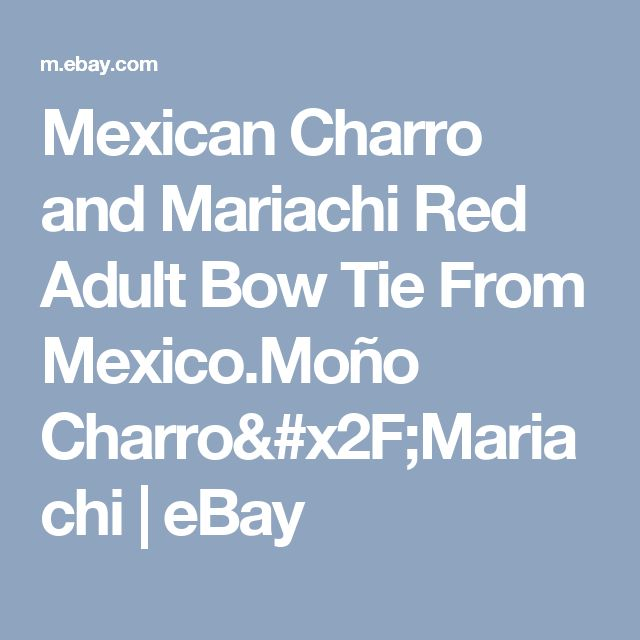 Mexican Charro and Mariachi Red Adult Bow Tie From Mexico.Moño Charro/Mariachi  | eBay