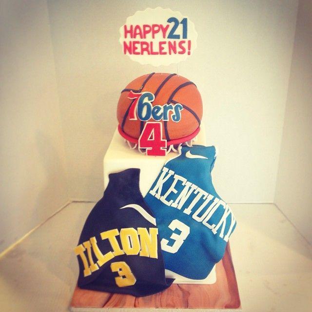 """Basketball Birthday Cake """"Happy 21st Birthday Nerlens Noel!!!"""""""