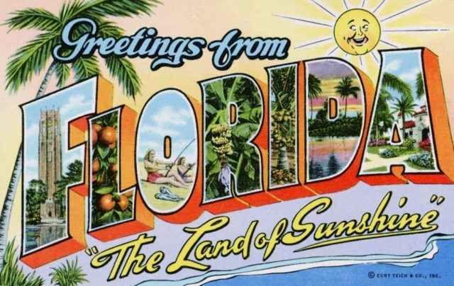 La Cartolina dal Mondo. Florida, the land of Sunshine Ritrovati in vecchi bauli o scatole, spesso le cartoline antiche ci raccontano stili di vita passati, oppure destinazioni di viaggio che erano abituali nel secolo scorso. ecco la nostra piccola colle #viaggio #florida