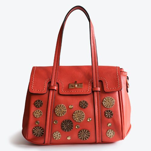 Orange field, handbag decorated with woven macrame and little glitter on it. Funny and colorful handbag! Adadi Accessories
