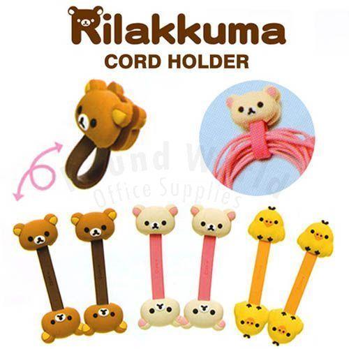 San-X-Rilakkuma-Relax-Bear-iphone-Headphone-Earphone-Mini-Cord-Holder-Organizer