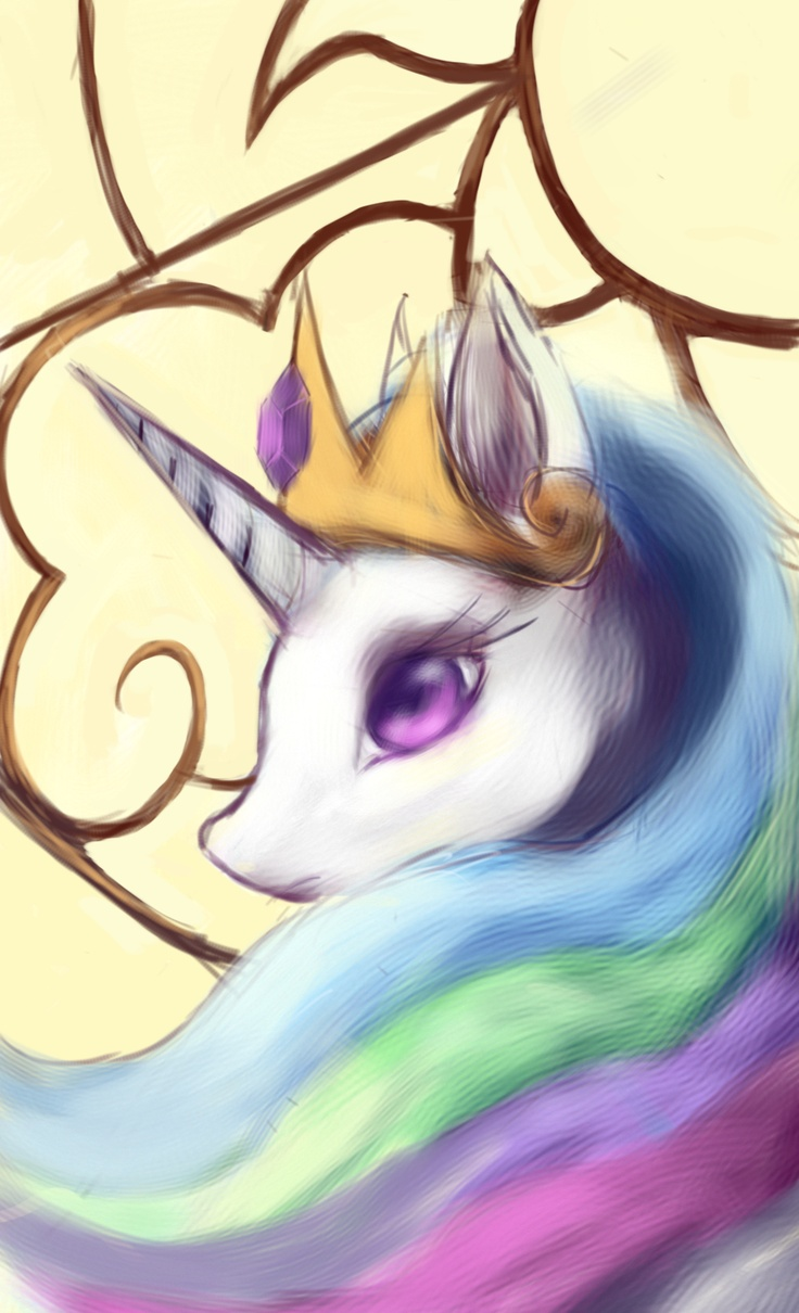 Smartphone art : Princess Celestia by FoxTailPegasus.deviantart.com on @deviantART