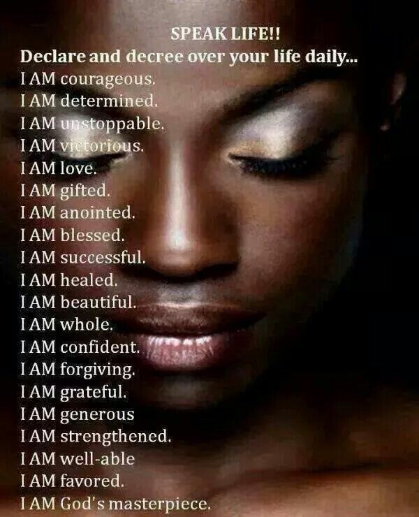 Amen. Declare over your life daily. I am God's masterpiece.