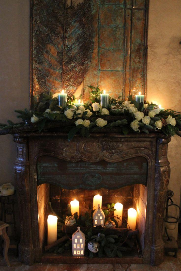 Oltre 25 fantastiche idee su camino con candele su - Decorazioni per camini ...