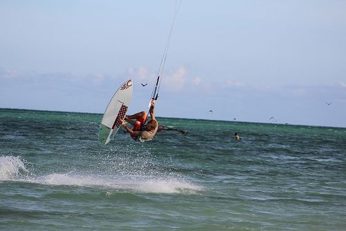 If anybody is interested in Kiteboarding in Zanizbar, check out these photos from Paje on the South East coast of Zanzibar. A good place to go for Kiteboard lessons or equipment is Paje by Kite http://www.pajebykite.net/  For a place to stay that is great fun, look at Paje by Night http://www.pajebynight.net/