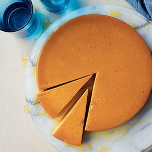 Pumpkin lends a unique and mouthwatering spin to the classic custard layered dessert with a soft caramel top. This flan is convenient--it can be made in advance and kept refrigerated until ready to serve.