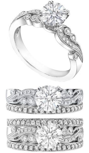 engagement rings and wedding rings 34