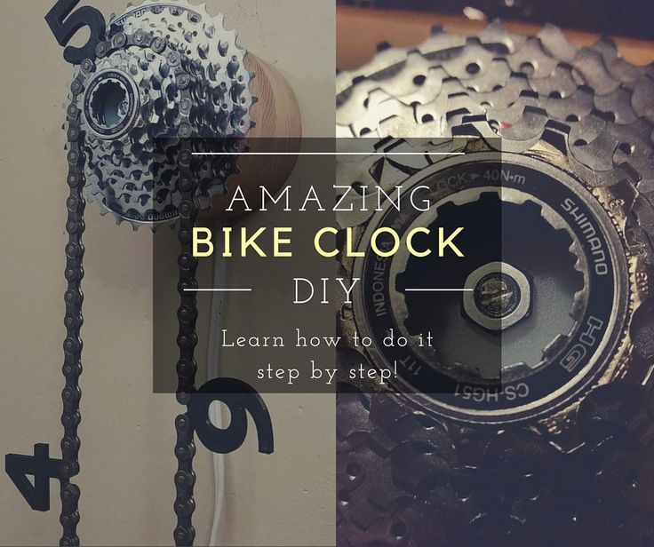 To build up this bike clock from used bike parts, you only need using a piece of wood, an old or upcycled bicycle chain, find a synchronous motor, and a rear bike cassette. Once you've got everything let's take a look at how to make it. The first thing you have to do is cutting the fr