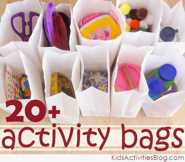 Activity bag ideas to engage your kids.