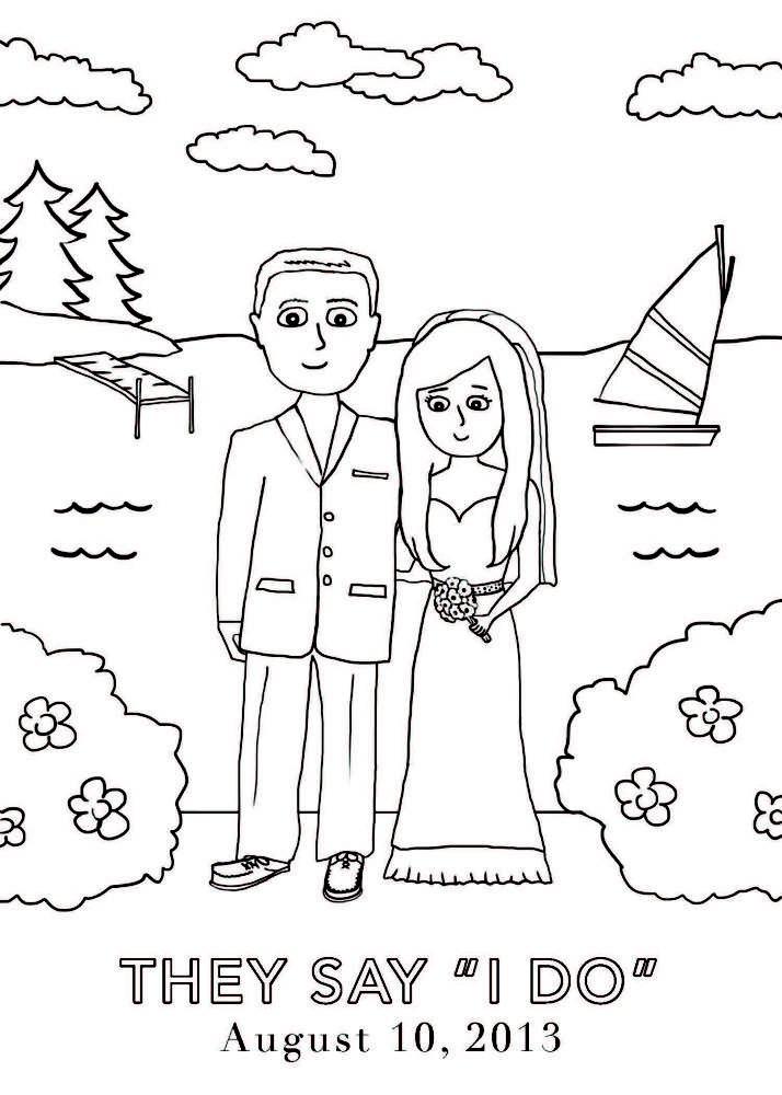 Wedding Coloring Book Gerten