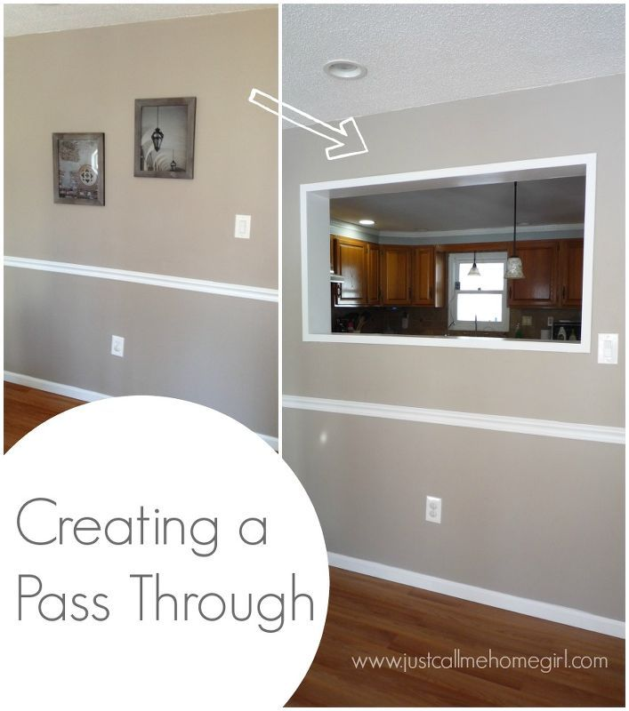 Creating A Pass Through In Our Wall, Kitchen Design, Living Room Ideas,  Painting Part 58